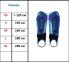 Щитки футбольные MITRE Aircell Carbon Slip без голеностопа 0