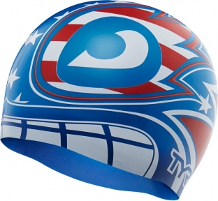Шапочка для плавания TYR The Masked Liberator Swim Cap