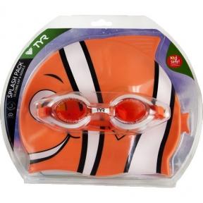 Набор для плавания (очки и шапка) TYR Happy Fish Charactyrs Splash Pack