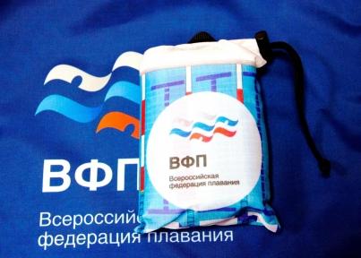 ВФП полотенце с полноцветной печатью, микрофибра, голубое. белое