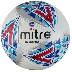 Мяч футбольный MITRE DELTA REPLICA L30P EFL бел/син/красн размер 5