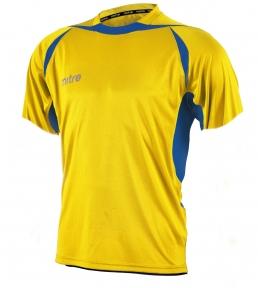 Футболка игровая MITRE Angular желт/син