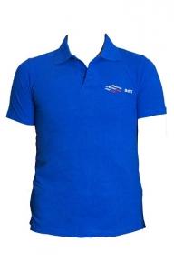 ВФП футболка поло с символикой ВФП синяя
