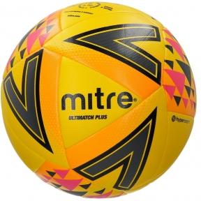 Мяч футбольный MITRE ULTIMATCH PLUS IMS HP термосклейка L20P желт/оранж/роз размер 5