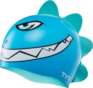 Шапочка для плавания детская TYR Charactyrs Dino Destroyer Cap